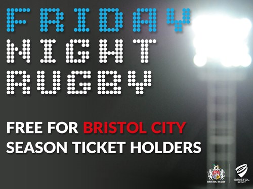 Free Friday Night Rugby For City Season Ticket Holders