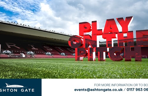 Play on the Ashton Gate pitch