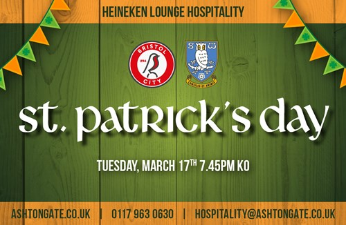 Celebrate St. Patrick's Day at Ashton Gate
