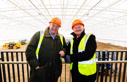 Gallery: Steve Lansdown and Chris Booy visit new training facility