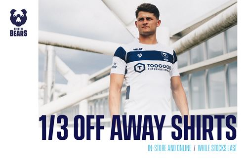 1/3 off Bristol Bears away shirt offer now available!
