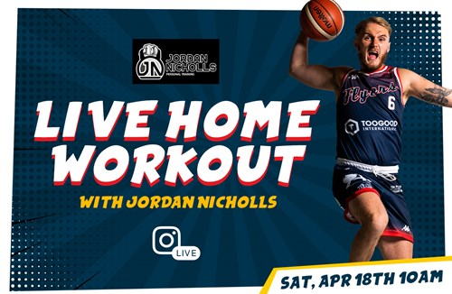 LIVE home workout with Jordan Nicholls this Saturday
