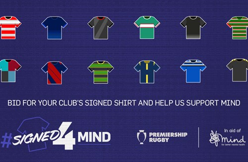 #Signed4Mind - Premiership Rugby shirt auction
