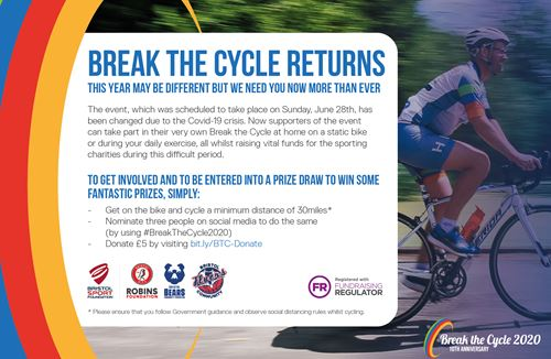 Break the Cycle 2020: event update and how to help
