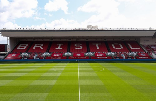 Box office seat for partners with Ashton Gate seat coverings