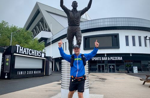 Running man on a mission to run to every EFL stadium to raise money for charity