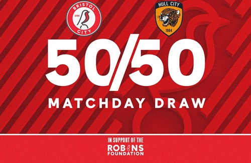 Win up to £1000 in this evening 50/50 Matchday Draw