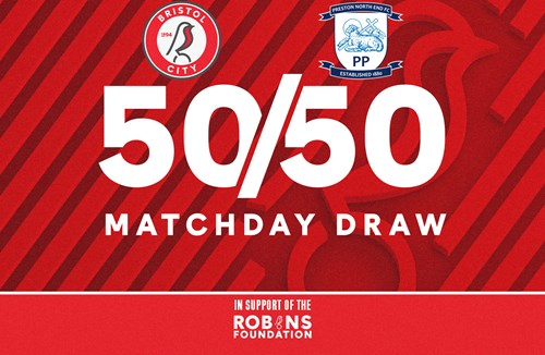 Win up to £1000 with the 50/50 Matchday Draw