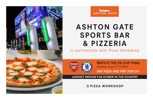 Enjoy the FA Cup Final at Ashton Gate Sports Bar & Pizzeria