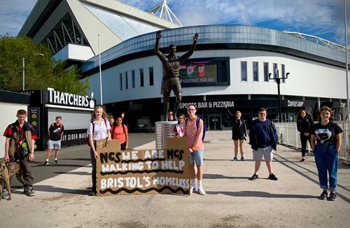 Young people take on charity challenge