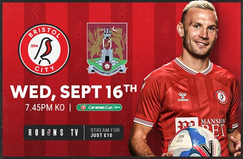 Carabao Cup Round Two live on Robins TV