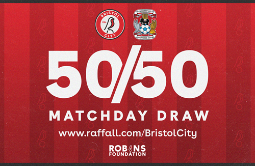 Pick up your 50/50 Matchday Draw ticket