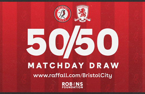 Win up to £1000 in tonight's 50/50 Matchday Draw