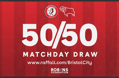 Take part in this afternoon's 50/50 Matchday Draw