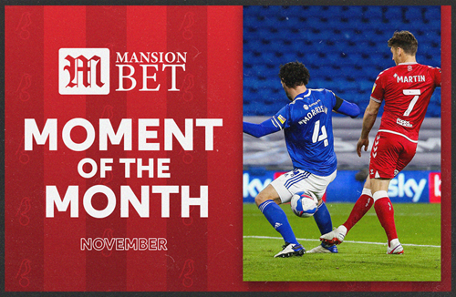 Martin wins MansionBet Moment of the Month
