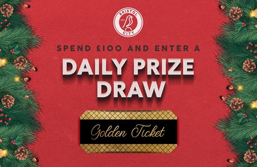 Spend £100 in store or online and be entered into our Golden Giveaway!