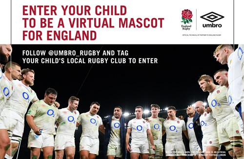 WIN a chance to be England Rugby's virtual mascot with Umbro