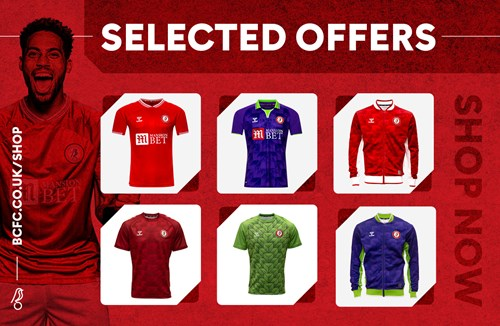 Selected offers available on the Bristol Sport Store