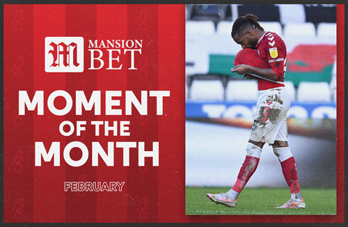 Palmer's corner goal seals MansionBet Moment of the Month