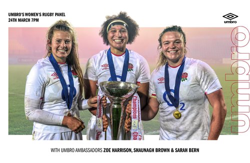 Sign up for the Umbro Women's Rugby Panel with Sarah Bern
