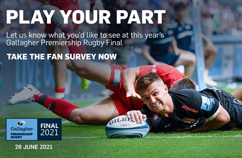 Take the Gallagher Premiership Rugby Final 2021 Fan Survey Now!