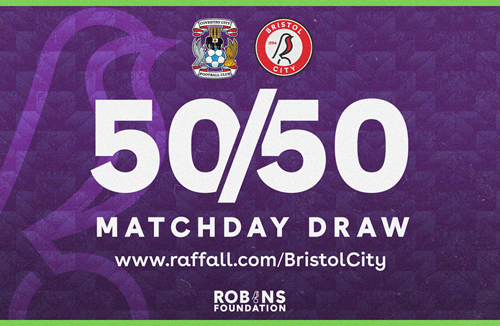 Win up to £1000 with today's 50/50 Matchday Draw