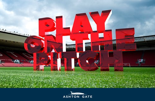 Play on the pitch at Ashton Gate