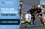 Win a signed shirt from Gallagher, your local insurance broker