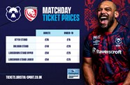 Gloucester Rugby pilot fixture: ticketing process and safety information