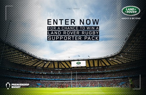 EXCLUSIVE! Land Rover Rugby Supporter Pack!