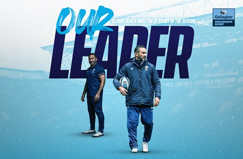 Pat Lam wins Global Reach Director of Rugby of the Season award