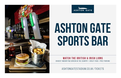 Watch the Lions in the Ashton Gate Sports Bar