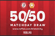 Get your tickets for tomorrow's 50/50 Matchday draw!