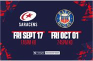 Saracens and Bath tickets on General Sale