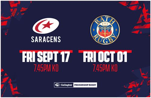 Saracens and Bath tickets on sale to Members and Season Card holders