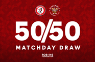 50/50 Matchday Draw ticket now on sale!