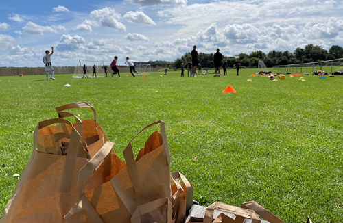 Foundation delivers free food and football across Bristol