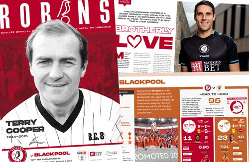 Bristol City v Blackpool Matchday Programme available to read online