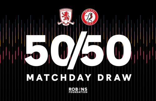 Tickets for Saturday's 50/50 Matchday Draw are on sale now!