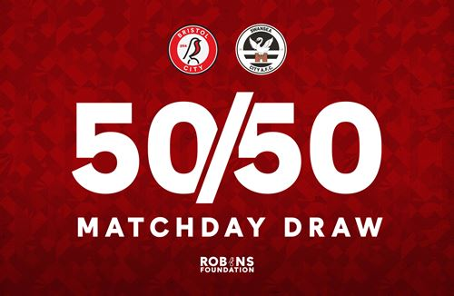 Get your tickets now for the 50/50 Matchday Draw!