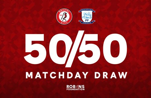 Tickets for the 50/50 Matchday Draw are now on sale!