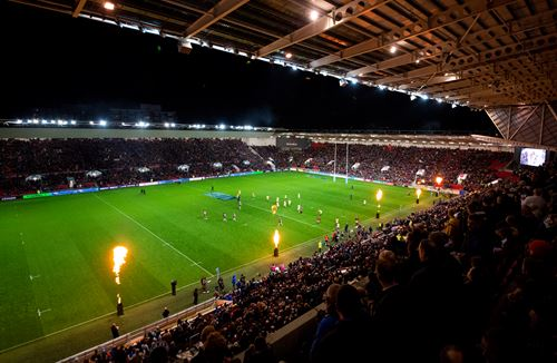 Upper Lansdown Stand open for Bath clash