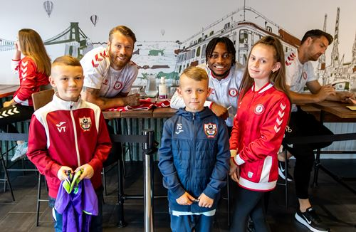 Players meet fans at the Bristol Sport Store