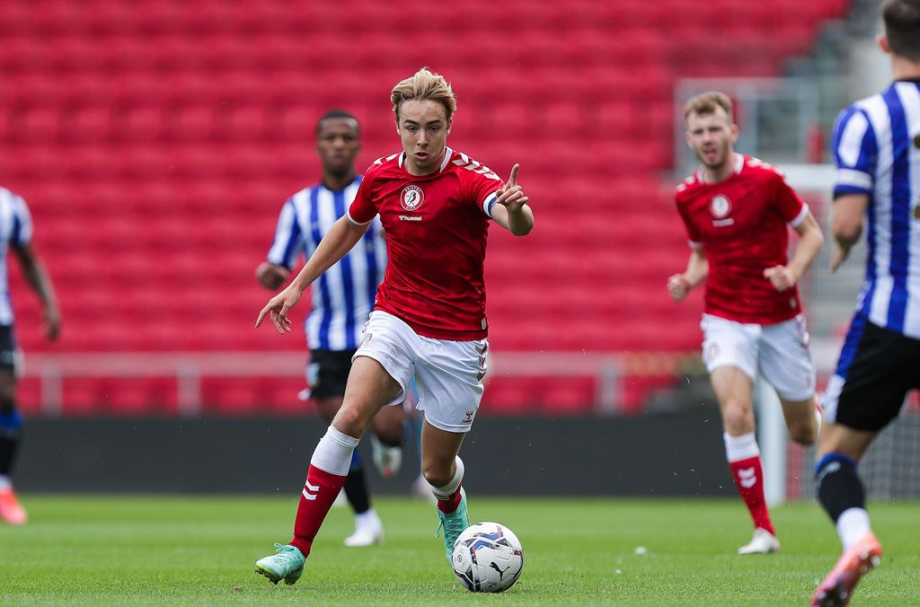 Young Robins in action at Ashton Gate