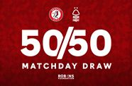 Take part in the 50/50 Matchday Draw!