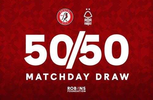 Take part in the 50/50 Matchday Draw