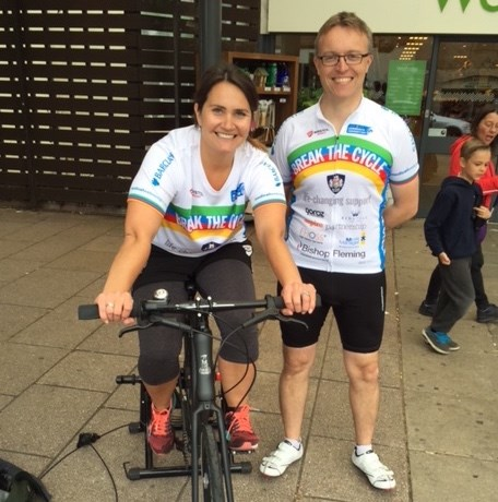 Static Cycle Raises £150 For Break The Cycle 2016