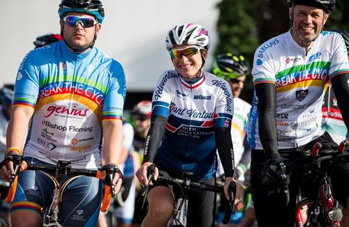 Hardy Cyclists Conquer Break The Cycle 2016