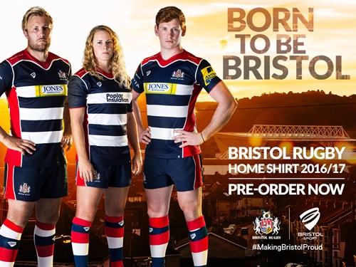 Bristol Reveal Blue And White Hoops for 2016/17 Campaign